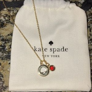 NWOT Kate Spade spot the Spade necklace